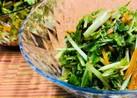 作り置きにも☆水菜と人参の和サラダ