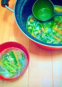 さっぱり♪大葉入り中華スープ
