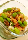 お手軽シーフードミックスと枝豆のペペロン