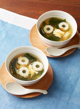 焼ちくわダシのふわふわ卵スープ