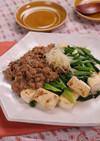 豆腐とねぎの肉味噌あんかけ☆