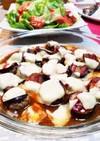 レンチン茄子とひき肉チーズ簡単