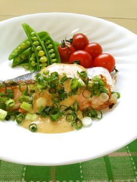 鮭の味噌マヨソース*うま塩