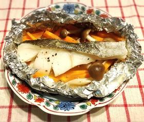 ヘルシーな鱈のレモンバターホイル焼き