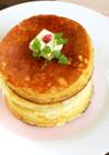 ふわふわ食感 桜シロップのホットケーキ