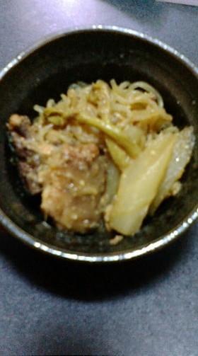 トロッとおいしい☆ウドのさば味噌煮☆