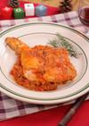 フライパンで簡単☆骨付き鶏のトマト煮込み