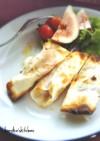 無花果とクリームチーズの餃子皮サラダ