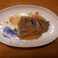 フライパンで!鯖の味噌煮。
