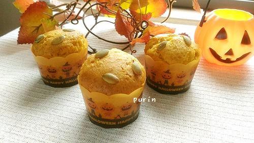 HMと冷凍かぼちゃでハロウィンマフィン