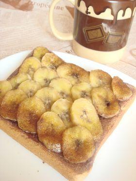 チョコバナナのトースト☆.。.:*・゜
