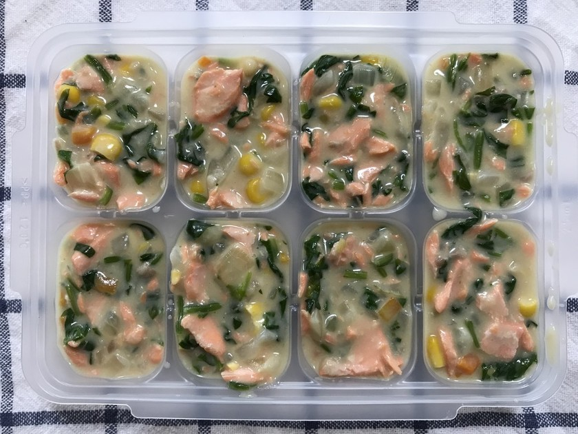 離乳食完了期☆鮭と野菜のクリーム煮