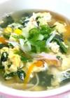 【スープ】具だくさん!かに玉スープ