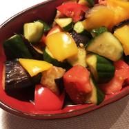 ナスと夏野菜の揚げ浸し