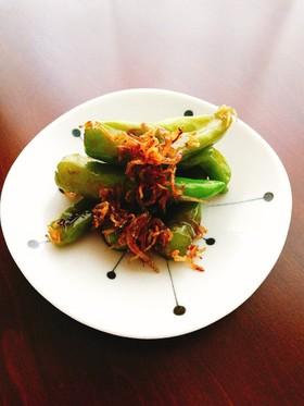 シシトウとカリカリジャコの甘辛炒め