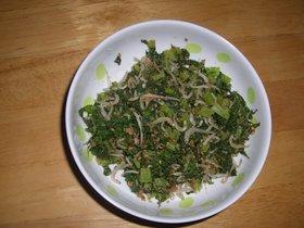 栄養たっぷり大根の葉の炒め物