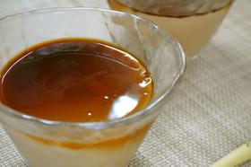 アガーで作るやわらかプーアル茶のプリン
