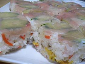 生ハムの簡単押し寿司