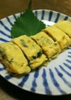 簡単☆朝食・お弁当に野沢菜浸けの卵焼き♡