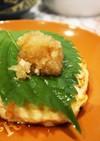 豆腐ハンバーグ。しそおろし
