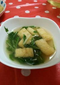 油揚げと水菜の味噌汁