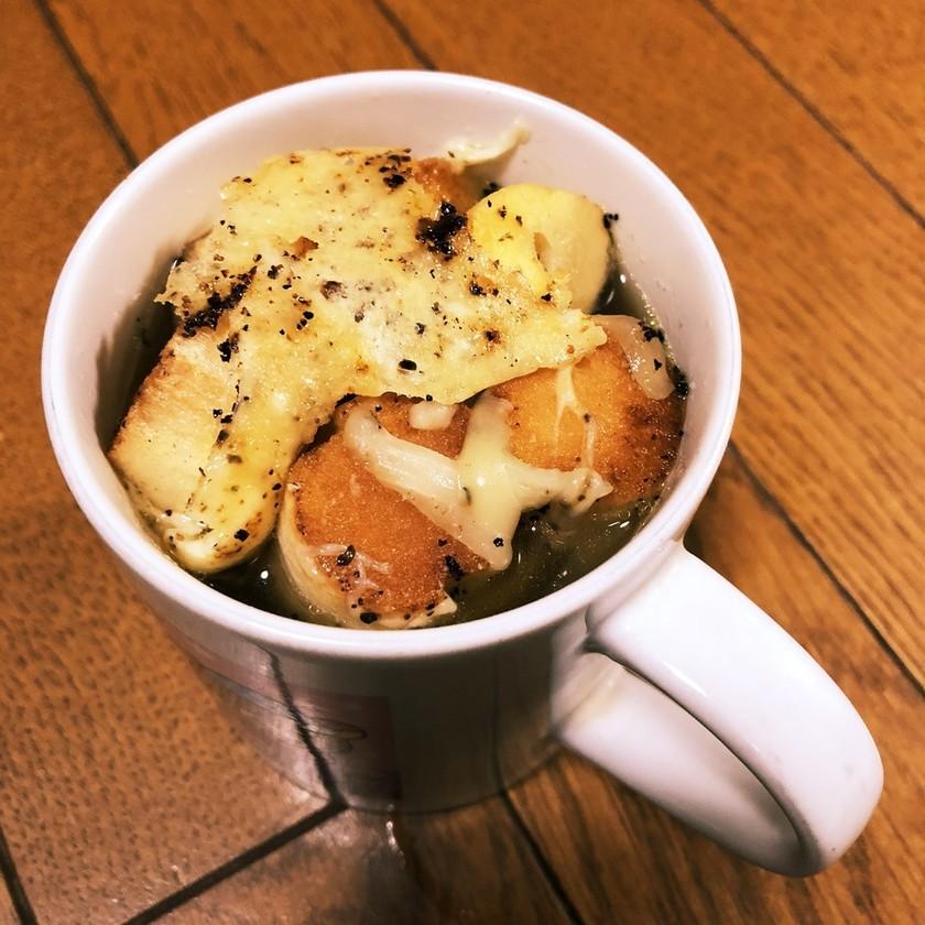 お麩オニオングラタンスープ