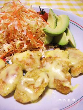 簡単♡鶏胸肉のカレーマヨソテー