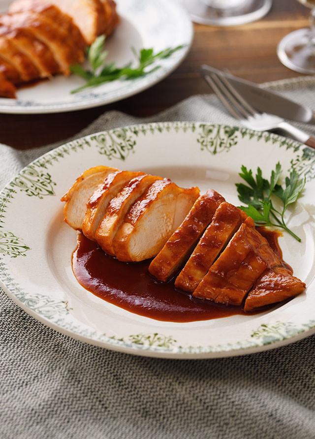 野菜ジュースで!鶏むね肉のトマト煮込み