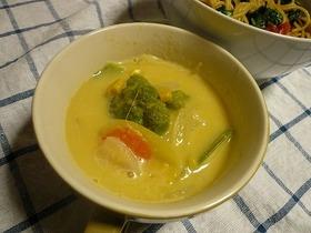 コーンクリーム缶で簡単スープ!