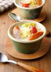 レンジで簡単!ウインナーうまみ豆乳スープ