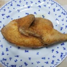 ダッチオーブンで鶏の半身揚げ