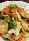 鳥むね肉と野菜のぽん酢炒め