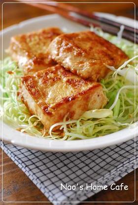 豆腐のマヨ生姜焼き♡