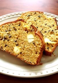 黒ごまとクリームチーズのパウンドケーキ