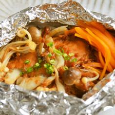 鮭ときのこの江戸甘味噌ホイル焼き