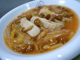 なめこと手羽のキムチスープ(&雑炊)♪