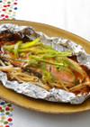 鮭のオイマヨホイル焼き