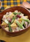 ささみとお豆の柚子胡椒マヨサラダ
