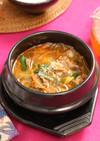 牛肉とたっぷり野菜のユッケジャンスープ