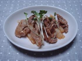山芋と豚肉のピリカラ炒め物