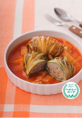 トマト風味で減塩!簡単ロール白菜