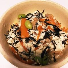 麺つゆでひじきの白和え☆簡単