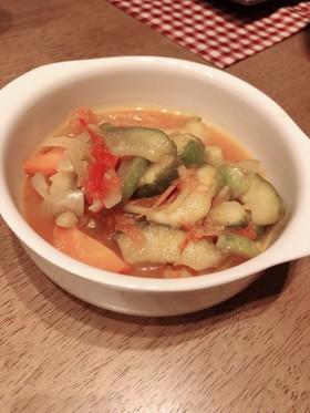 食べ応え満点☆白瓜のトマトスープ