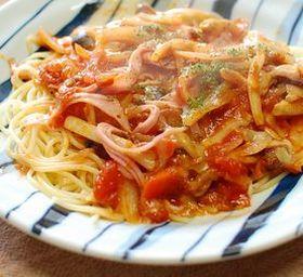 フライパンひとつdeピザ風スパゲティー
