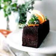 しっとり濃厚、オレンジの生チョコケーキ