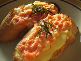 とろ~りチーズの明太フランス