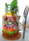 ミートローフの瓶詰めサラダ