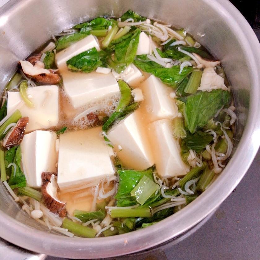 超ヘルシー♡しらすと小松菜の豆腐あんかけ