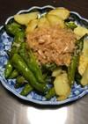 獅子唐とポテトのバター醤油炒め(おつまみ