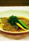 蒸し白身魚のネギソース
